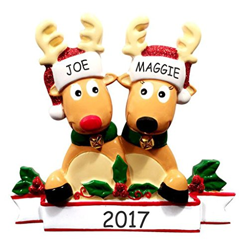 Personalized Cozy Reindeer Family Christmas Ornament (Reindeer (Reindeer Family Christmas Ornament)