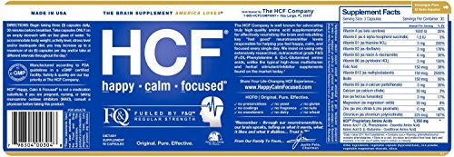 Brain Supplement for Memory, Focus, Attention, Mood. Increase Energy, Concentration, Clarity, Alertness. Improve Learning Abilities, Sleep Quality. Neuro Booster with Amino-Acids, Vitamins. 2 Bottles. by HCF (Image #2)