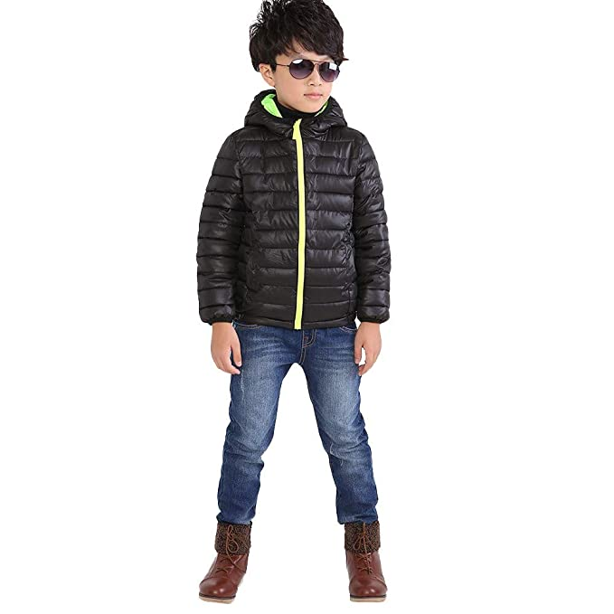 5ed7fdf18452 Amazon.com  Moonker Boys Girls Fall Winter Coat Bubble Jacket 4-7 ...