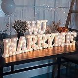 YANROO Led Light Up Marquee Letter Lights Alphabet