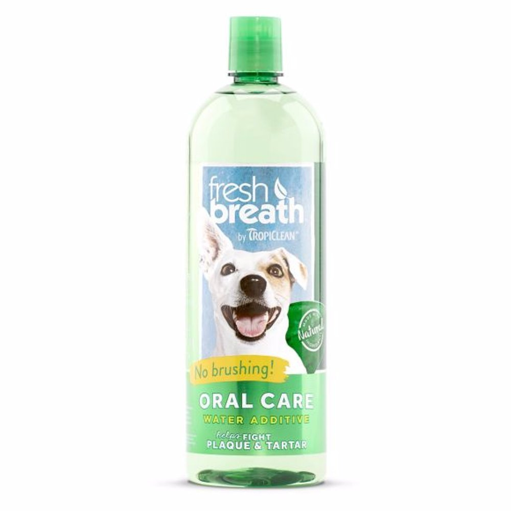 TropiClean Fresh Breath Oral Care Water Additive - 33.8 Fl Oz - 3 Bottle