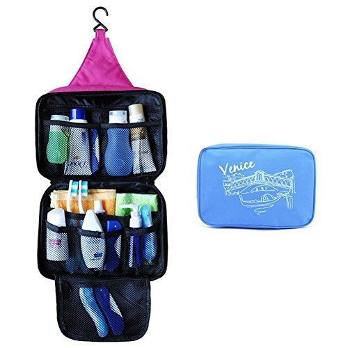 Divinext Venice Waterproof Cosmetic Makeup Bag Pouch, Multi color