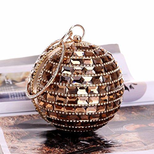 Y Bolsos Nuevos Americana Baile Mano Diamantes Moda Europea De Bolsas Señoras Cena Golden black Xjtnlb 1Zxwd08T1