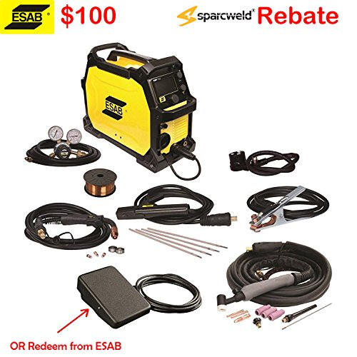 ESAB Rebel EMP 215ic Multiprocess Welder 3in1 Pkg, 100 Rebate
