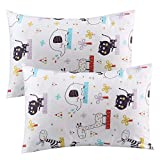 Kids Toddler Pillowcases UOMNY 2 Pack 100% Cotton Pillowslip Case 13 x 18'' for Kids Bedding elephant/lion