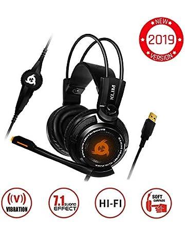 KLIM Puma – Cascos Auriculares Gaming con micrófono – Sonido Envolvente 7.1 Audio – Vibración integrada