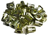 25pcs 8-32 flat head ribbed body steel rivet nuts LFS-08080R