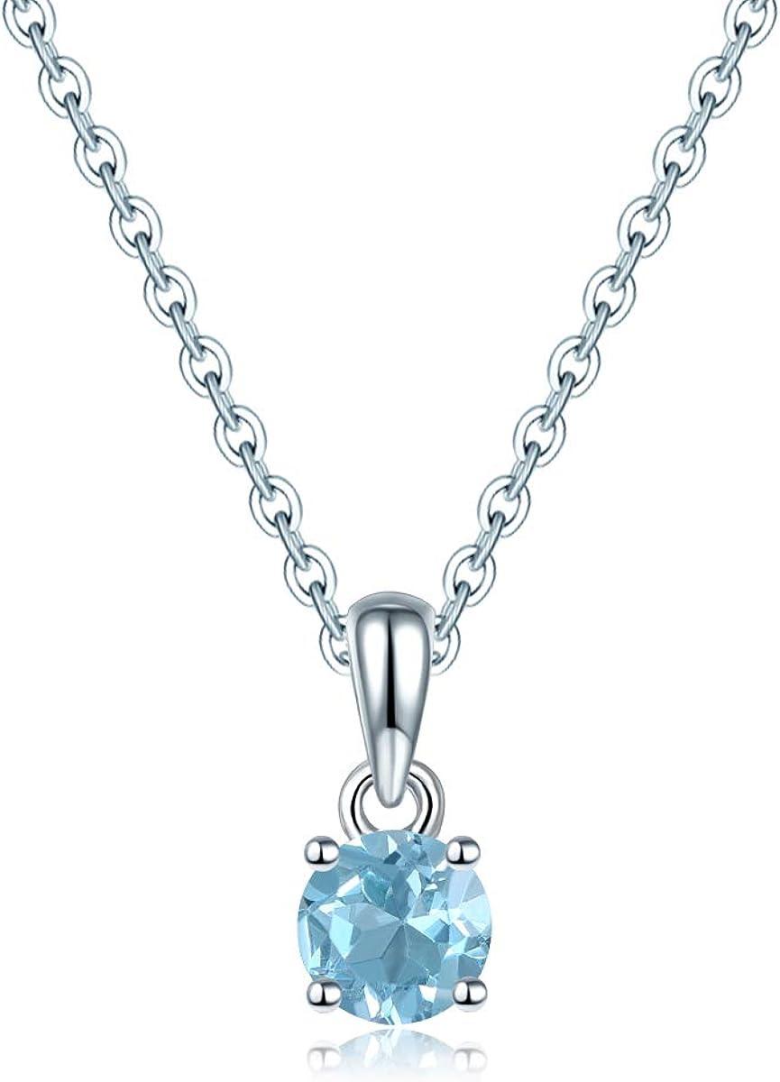 Collar de plata de ley 925 con colgante de piedra bithstone natural para mujer regalo de Lohaspie