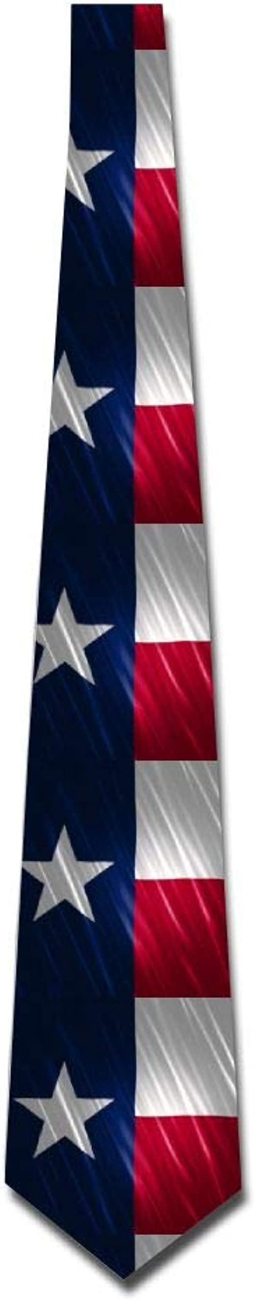 Mens Vintage Flag Of Texas Fashion Casual Tie Necktie