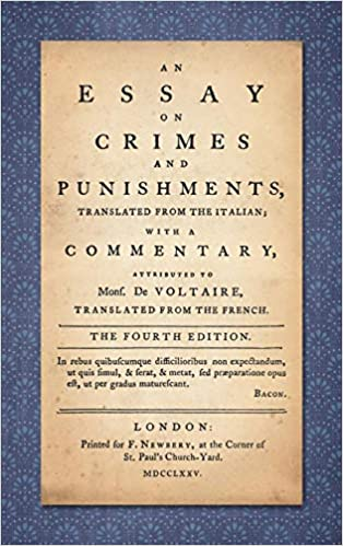 An Essay On Crimes And Punishments Beccaria Cesare Bonesana  An Essay On Crimes And Punishments Th Edition Cheap Writing Service Reviews also Persuasive Essay Sample High School  Essays For High School Students To Read