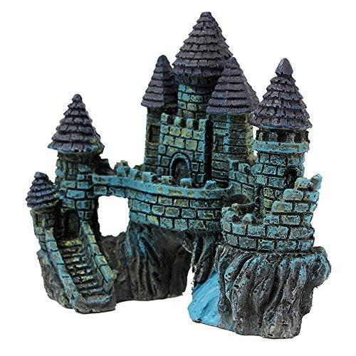 Aquariums Decorations Castle Tower Resin Cartoon Castle Ornaments Fish Tank Aquarium Decoration - Shops Castle Towers