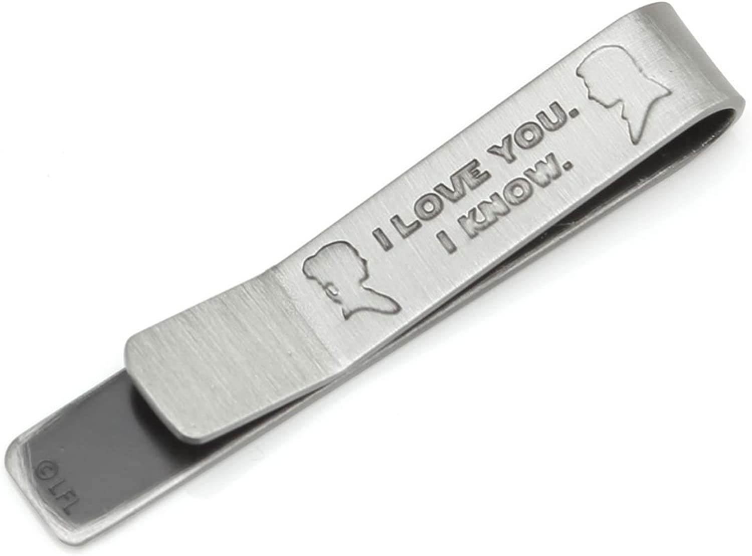I Love You I Know Hidden Message Tie Bar