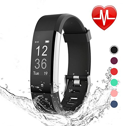 LETSCOM Fitness Tracker HR, Heart Rate Monitor Watch, IP67 Waterproof Activity Tracker with Step Counter and Sleep Monitor, Pedometer Watch, Smart Wristband for Kids Women and Men – DiZiSports Store