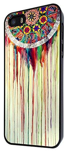 598 - WaterColour Dream Catcher Eastern Lucky Sharm Cool Design iphone 5 5S Coque Fashion Trend Case Coque Protection Cover plastique et métal - Noir