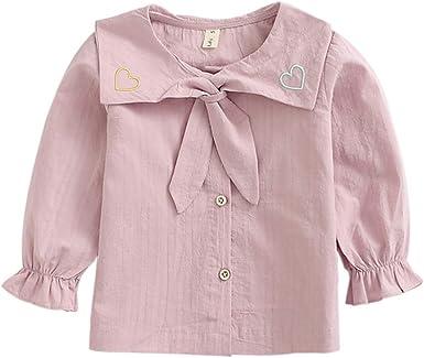 Mornyray Camisa de Manga Larga de Little Baby Girl Primavera ...