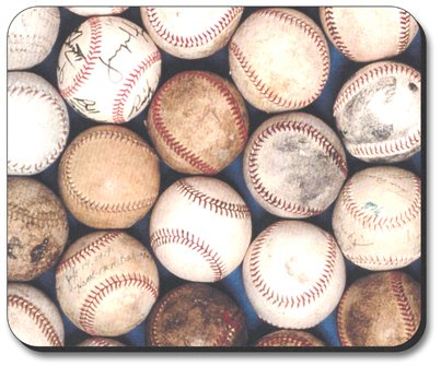 Art Plates Baseballs (Baseballs Mouse Pad - By Art Plates)