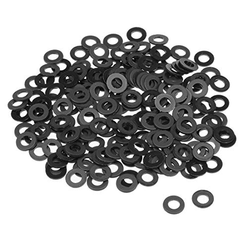 uxcell Nylon Flat Washers for M5 Screw Bolt 10mm OD 1mm Thick 200PCS