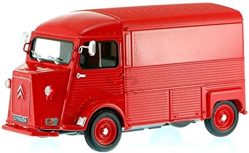 Welly1:24 coche modelo Citroën Type h rojo modelo auto bus Transporter 16x7,5x9cm