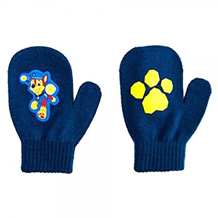 PAW Patrol Chase Nickelodeon Nick Jr. Stretch Winter Mittens Blue Toddler 2T-4T BioWorld