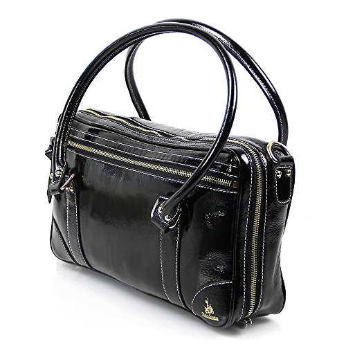 Fluterscooter Black Patent Leather Oboe Bag (3)