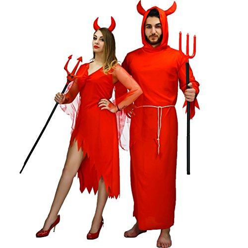 [Halloween Devil Fancy Dress Costume (One Size, Men)] (Devil Halloween Costumes For Women)