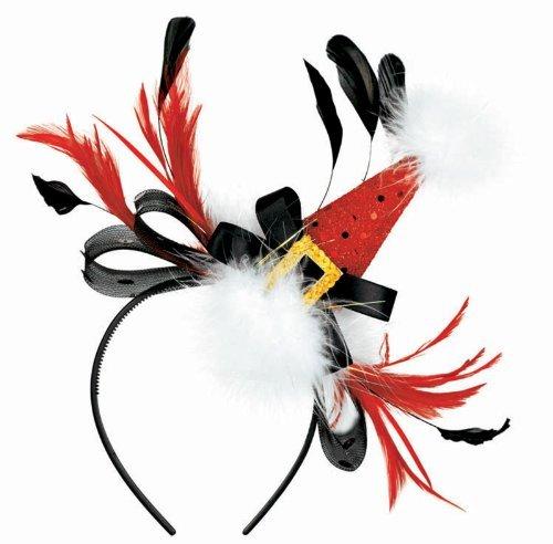 Amscan-Mens-Christmas-Fashion-Santa-Hat-Headband-One-Size-Black
