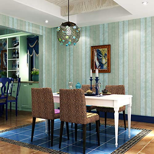 FGHJKL wallpaper Modern Vertical Strip Wallpapers Home Decor Blue Green Beige Stripped Wall Paper Roll Decorative for Bedroom Living Room Walls