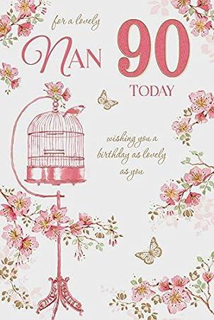 Geburtstagskarte 90 Geburtstag Oma Hochwertig Motiv Blumen Und