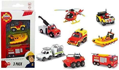 Sam el bombero - pack de 3 vehículos (modelos surtidos): Amazon.es ...