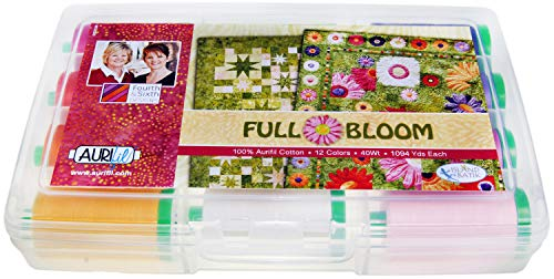 Aurifil Full Bloom Collection by Barbara Persing and Mary Hoover 12 Large Spools 100% Aurifil Cotton 40wt 1094 Yards ()