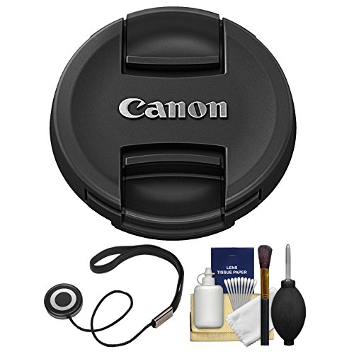 Canon E-67II 67mm Snap-On Lens Cap with CapKeeper + Cleaning Kit