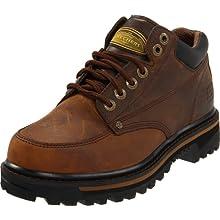 Skechers USA Men's Mariner Utility Boot,Dark Brown,13 EE - Wide