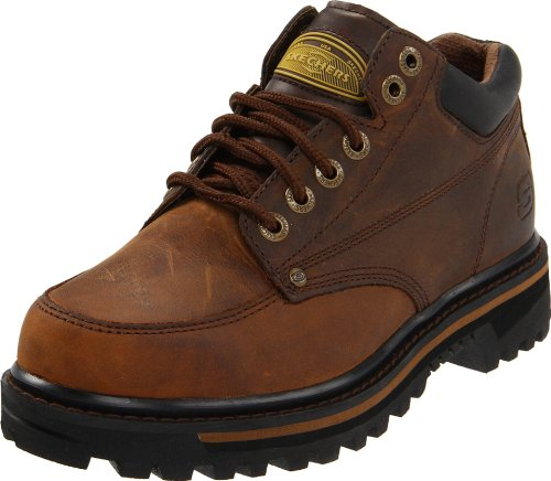Skechers USA Men's Mariner Utility Boot,Dark Brown,10.5 EE - Wide