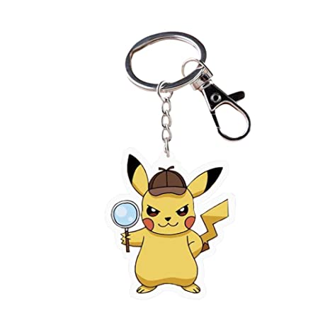 Amazon.com: RichyRichy Pokémon Detective Pikachu llavero ...