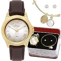 Kit Relógio Condor Feminino com Pulseira Co2039bd/k2k