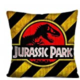 "Damuyas JURASSIC PARK Decorative Throw Pillow Case Cushion 18"" Zippered Cover (JURASSIC PARK 1#)"