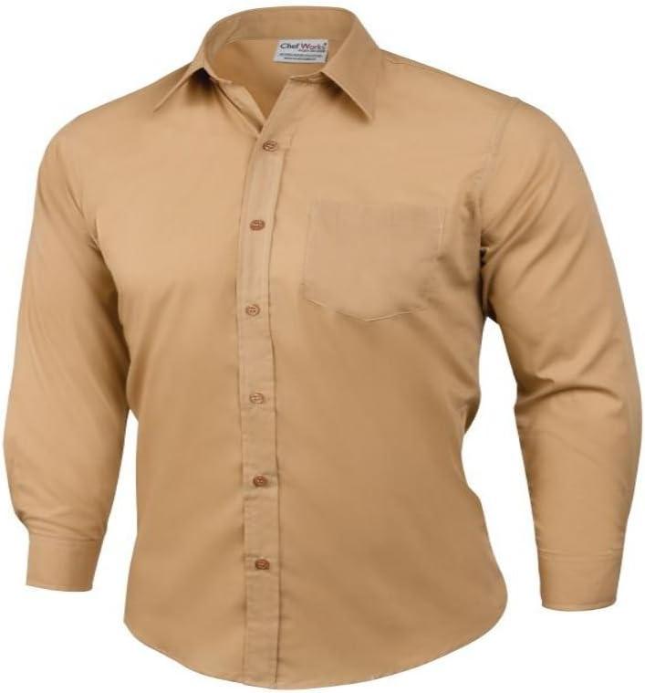Obras uniformes delante de casa Personal uniforme Wear vestido camisa marrón unisex, plástico, canela, small: Amazon.es: Hogar