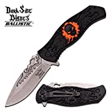 Dark Side Blades Knives DS-A024OR Spring Assisted Pocket Clip Aluminum Handle