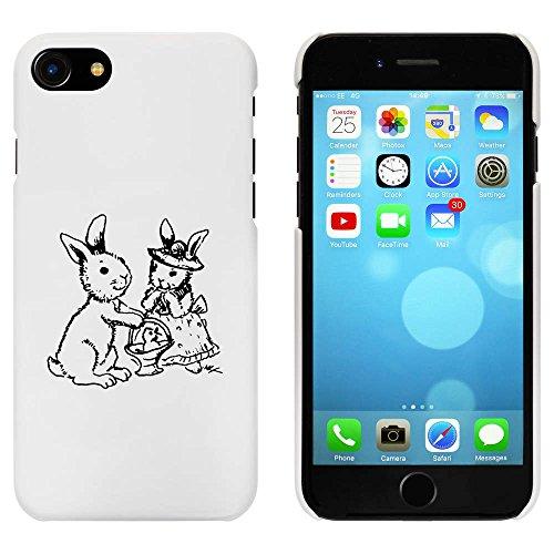 Blanc 'Lapins de Pâques' étui / housse pour iPhone 7 (MC00062036)