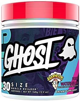 GHOST SIZE WARHEADS Sour Watermelon 30 Serv Muscle Builder – Fully Clinically Dosed Creatine HCl and Creatine Monohydrate, Betaine, Beta-Alanine, Epicatechin, Astragin