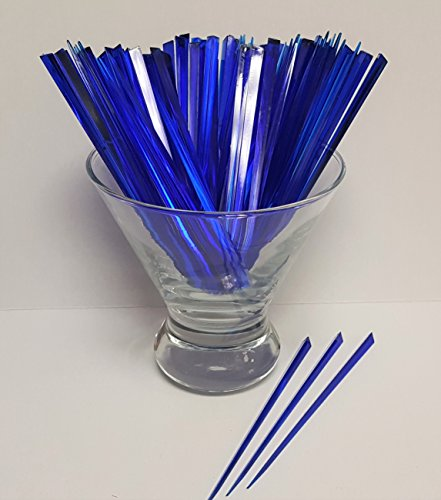 Picks, PACK of 100 DARK BLUE 4.5'' Prism - Cocktail, Party, Food Pick by Happy Hour Supplies