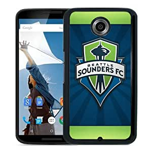 Fashionable And Unique Designed Case For Google Nexus 6 Phone Case With Seattle Sounders FC 19 Black