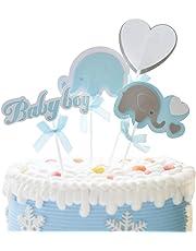 STOBOK Baby Girl Baby Shower Cumpleaños Elefante Cake Cupcake Toppers Decoraciones de Pasteles para Birthday Baby