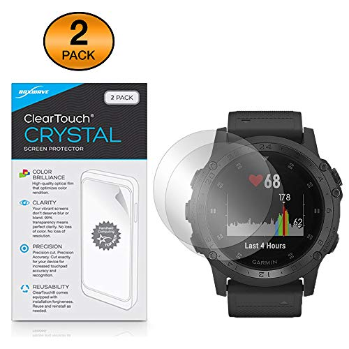 Boxwave Cleartouch Screen Protector - BoxWave Garmin Tactix Charlie Screen Protector, [ClearTouch Crystal (2-Pack)] HD Film Skin - Shields from Scratches for Garmin Tactix Charlie