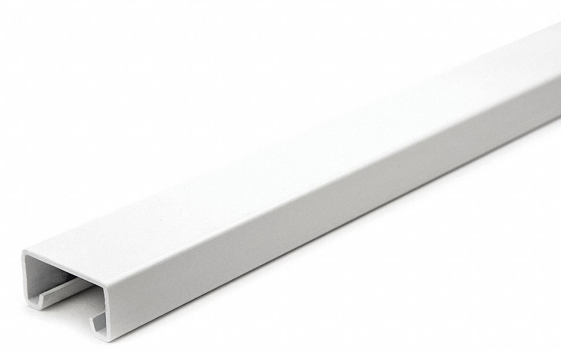Solid Standard 1-5/8 x 13/16 Strut Channel, White Painted Steel, 14 ga, 5 ft.