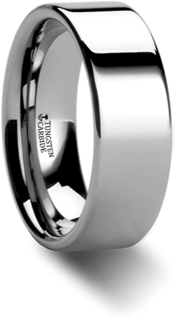 Thorsten Stockton Flat Pipe Cut White Tungsten Ring 2mm Wide Wedding Band from Roy Rose Jewelry