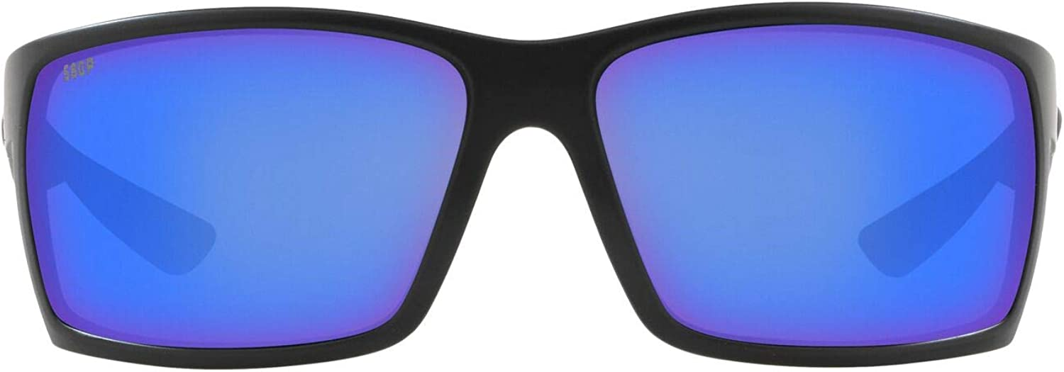 Costa Del Mar Men's Reefton Rectangular Sunglasses, Matte Grey/Grey Polarized-P, 64 mm