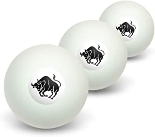 Taurus The Bull Zodiac Horoscope Novelty Balles de ping-pong Lot de 3 Graphics and More