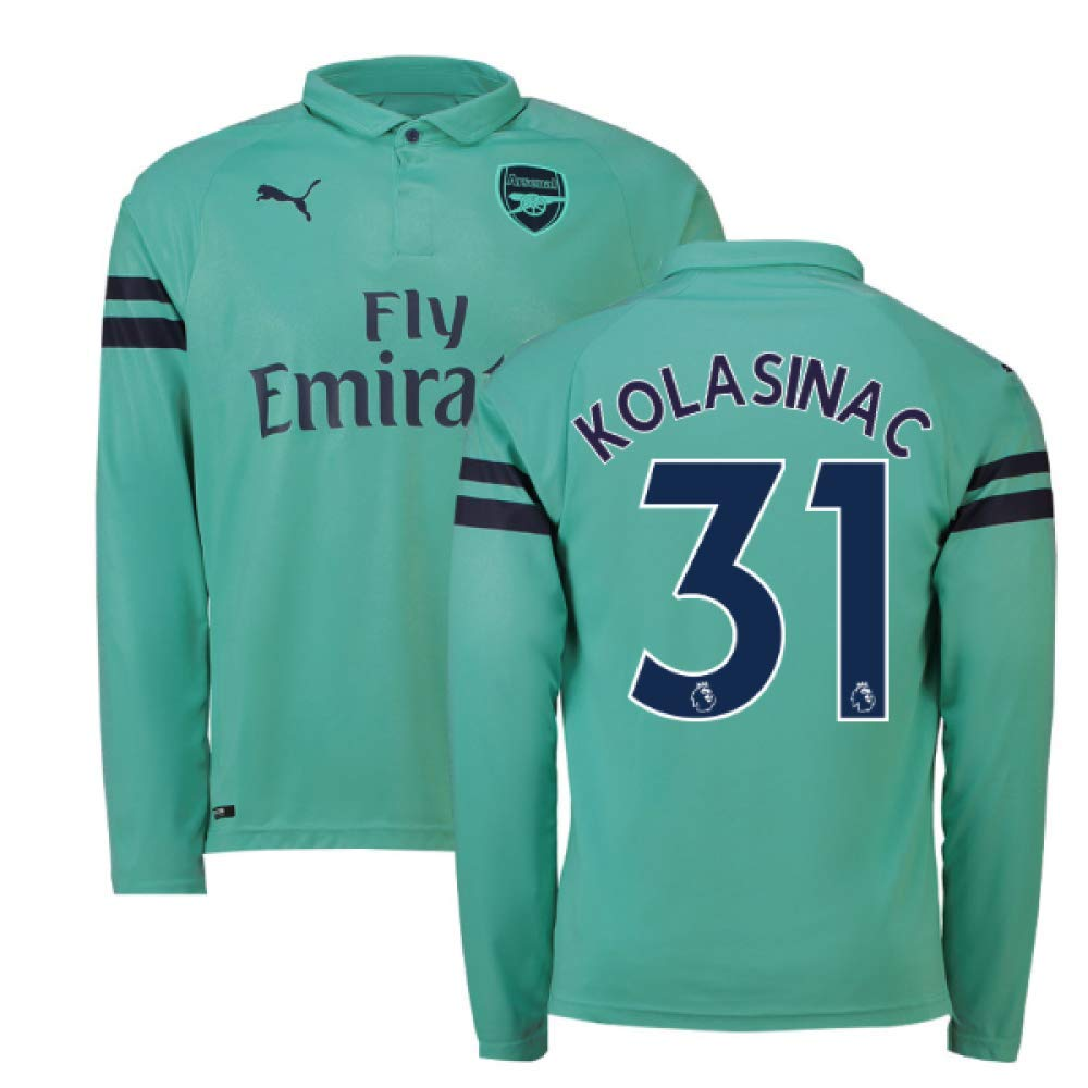 detailed look 38b89 6cd33 Amazon.com : 2018-2019 Arsenal Puma Third Long Sleeve ...