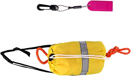 16m Kayak Reflective Throwline Water   Safe Throw Bag Floating Rope Red